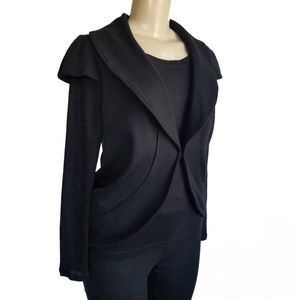 Alice + Olivia black cap sleeve jacket